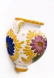 Single painted decorative wall pot. Stock Photo