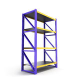 Single pallet rack. Royalty Free Stock Images