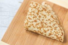 Single pancake Stock Image