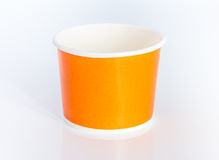 Single paper cup on white background. Royalty Free Stock Images