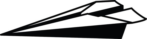 Simple paper plane icon fully resizable editable vector in black color Stock Photo