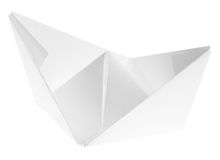 Single paper ship Stock Images
