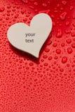 Single Paper Valentine's Heart Royalty Free Stock Photos