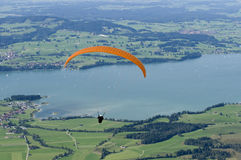 Single paraglider Stock Image