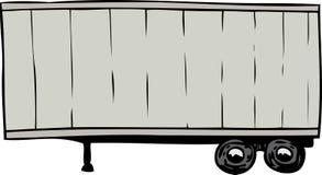 Single parked gray cargo shipping trailer Royalty Free Stock Photo