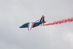 Single Patrouille de France Alpha Jet Stock Images