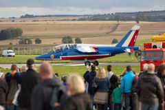 Single Patrouille de France Alpha Jet Royalty Free Stock Photo