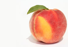 Single peach stock image
