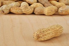 Single Peanut Stock Photo