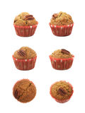 Single pecan nut muffin isolated Stock Images