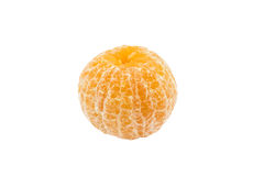 Single peel orange isolated white background Royalty Free Stock Photography