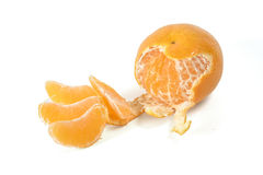 Single peeled mandarin Royalty Free Stock Photography