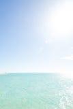 Single person on remote paradise beach lagoon Royalty Free Stock Photos