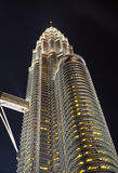 Single Petronas Tower Kuala Lumpur Royalty Free Stock Image