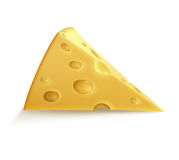 Single piece of cheese Stock Photos