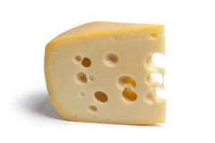 Single piece of Dutch farmers cheese Royalty Free Stock Image