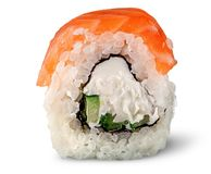 Single piece of sushi roll of Philadelphia royalty free stock photography