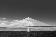Single pillar of a suspension bridge Stock Photography