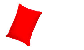 The single pillow on white isolate background with clipping path Stock Images