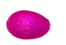 Single pink easter egg Royalty Free Stock Image