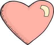 Single Pink Heart Royalty Free Stock Images
