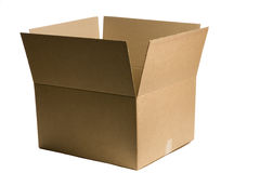 Single Plaing Shipping Box Royalty Free Stock Photo