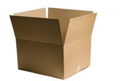 Single Plaing Shipping Box. Single plain brown shipping or packing box Royalty Free Stock Photo