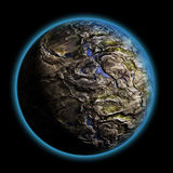 Single planet deep in the galaxy Royalty Free Stock Image