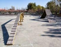Single plank bridge Royalty Free Stock Photos