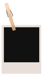 Single Polaroid Blank  Stock Photos
