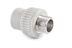 Single polypropylene connector iso alted Stock Images