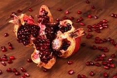 The single pomegranate Stock Photography