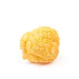 Single popcorn flake isolated Stock Photography