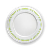 Single porcelain plate isolated Stock Photo