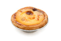 Single portuguese egg tart Stock Photos