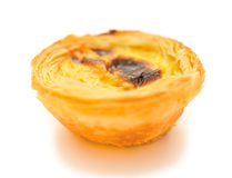 Single portuguese egg tart Royalty Free Stock Photography