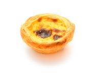 Single portuguese egg tart Royalty Free Stock Photos