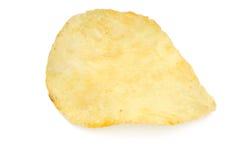 Single potato chip Royalty Free Stock Photo