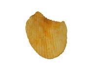 Single potato chip isolated on white background Stock Photo
