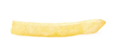 Single potato french fry chip Royalty Free Stock Images