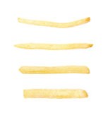 Single potato french fry chip Stock Photography
