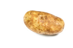 Single potato over white Stock Image