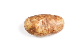 Single potato over white Stock Photography