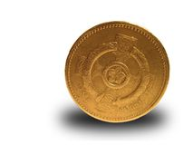 Single Pound. Coin isolated against white royalty free stock image