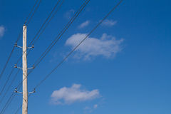 Single Power Pole Stock Images