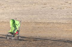 Single buggy on the beach royalty free stock image