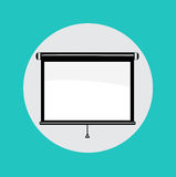 Single projector flat design icon Royalty Free Stock Photos