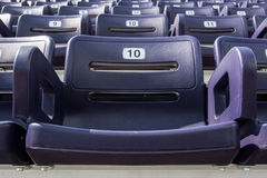 Single Purple Stadium Seat Stock Photo
