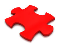 Single puzzle block Royalty Free Stock Images