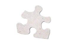 Single puzzle piece. Isolated on white background stock image